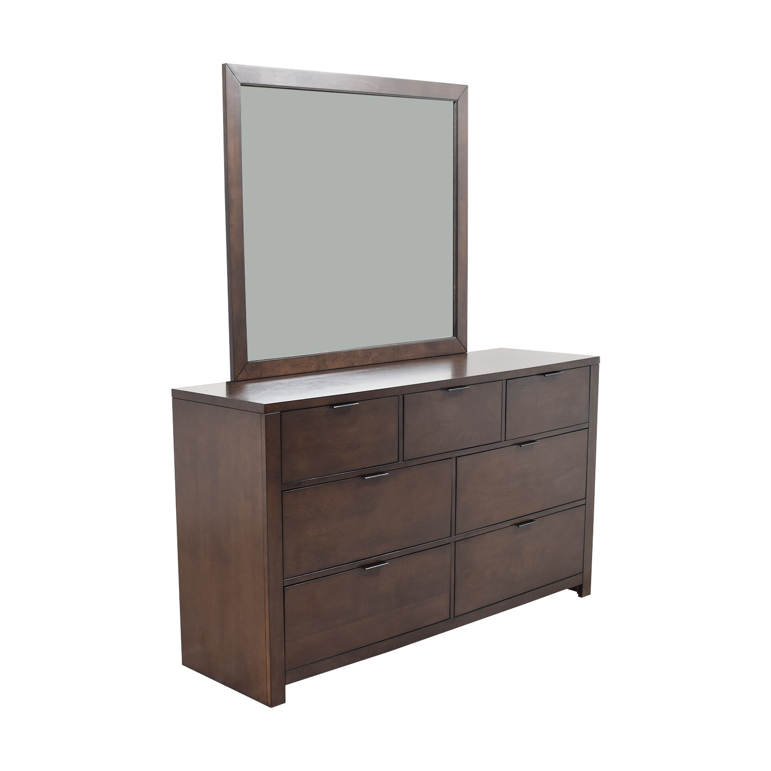 Home Meridian Home Meridian Wood Seven-Drawer Dresser with Mirror Dressers