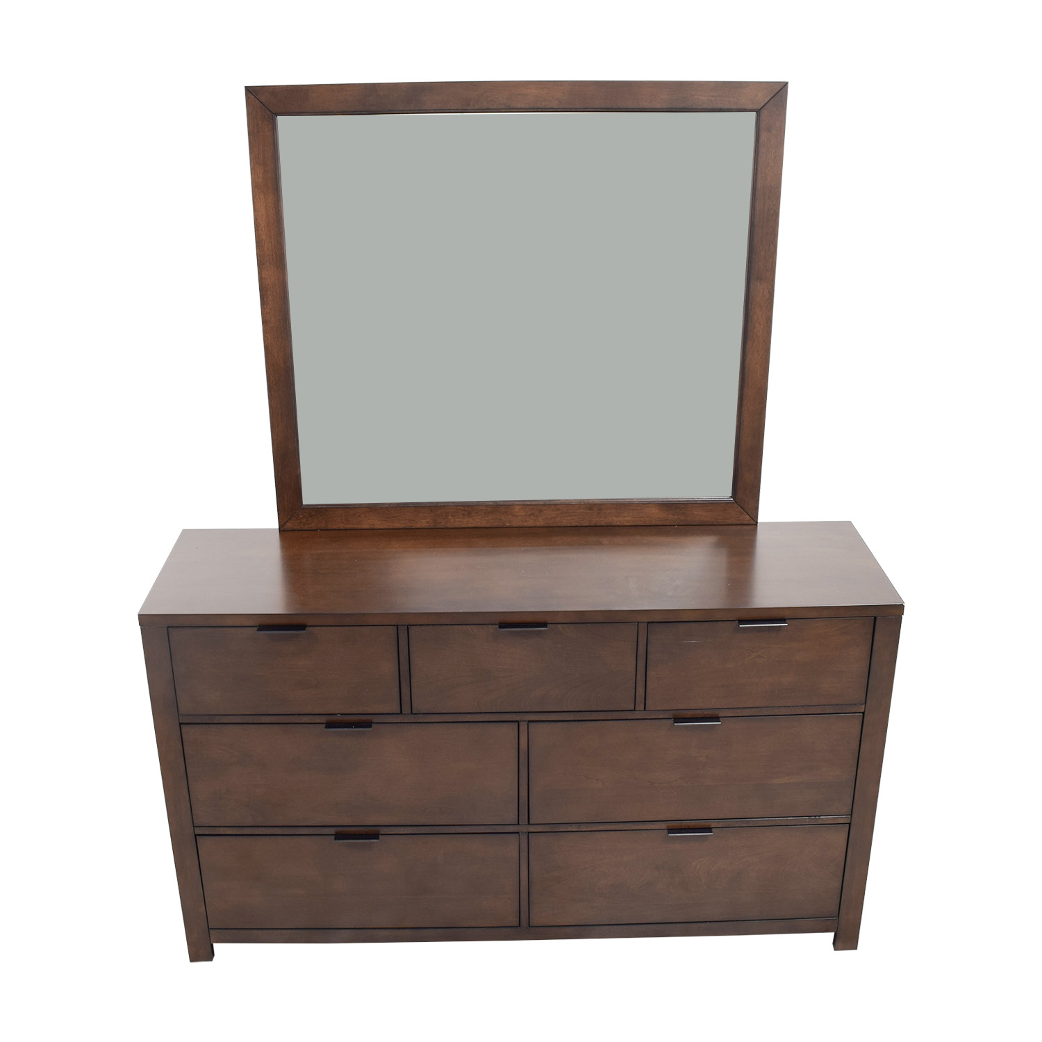 Home Meridian Home Meridian Wood Seven-Drawer Dresser with Mirror coupon