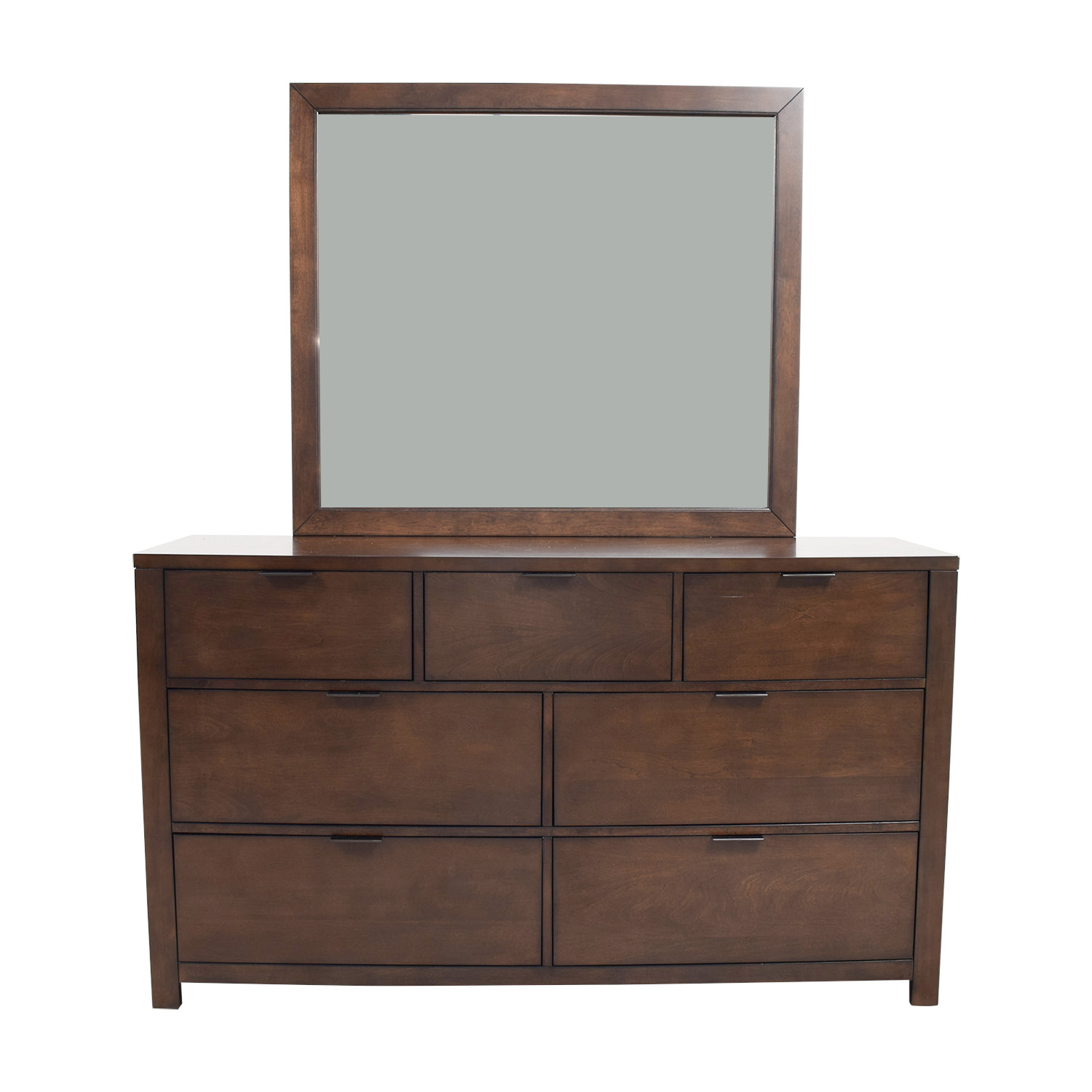 shop Home Meridian Wood Seven-Drawer Dresser with Mirror Home Meridian Storage