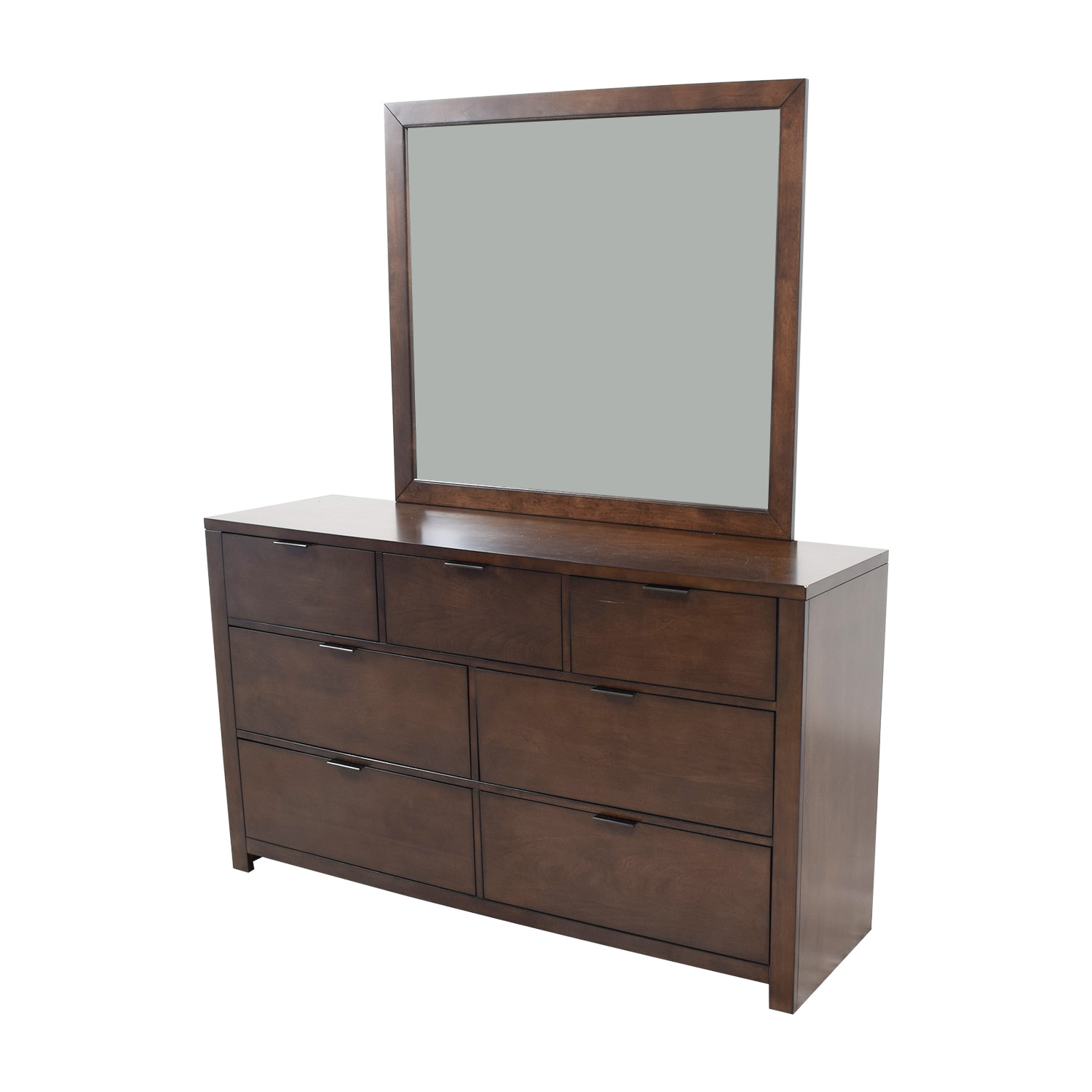 buy Home Meridian Home Meridian Wood Seven-Drawer Dresser with Mirror online