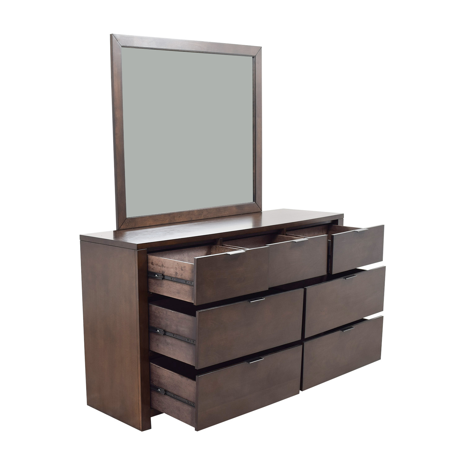 Home Meridian Wood Seven-Drawer Dresser with Mirror / Storage