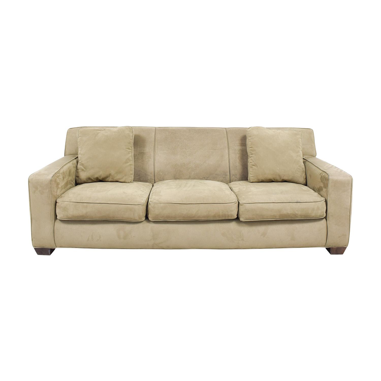 Crate & Barrel Crate & Barrel Axis II Brown Three-Cushion Sofa used