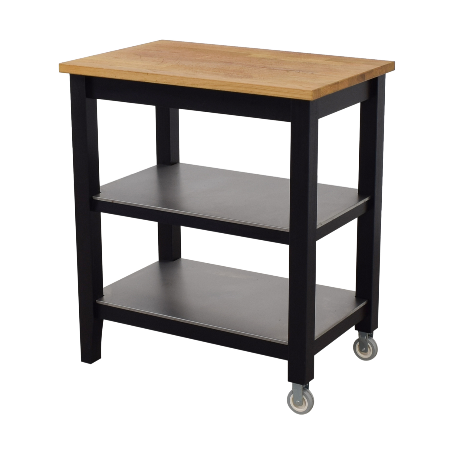 Used Kitchen Island For Sale: IKEA IKEA Stenstorp Wood And Black Kitchen