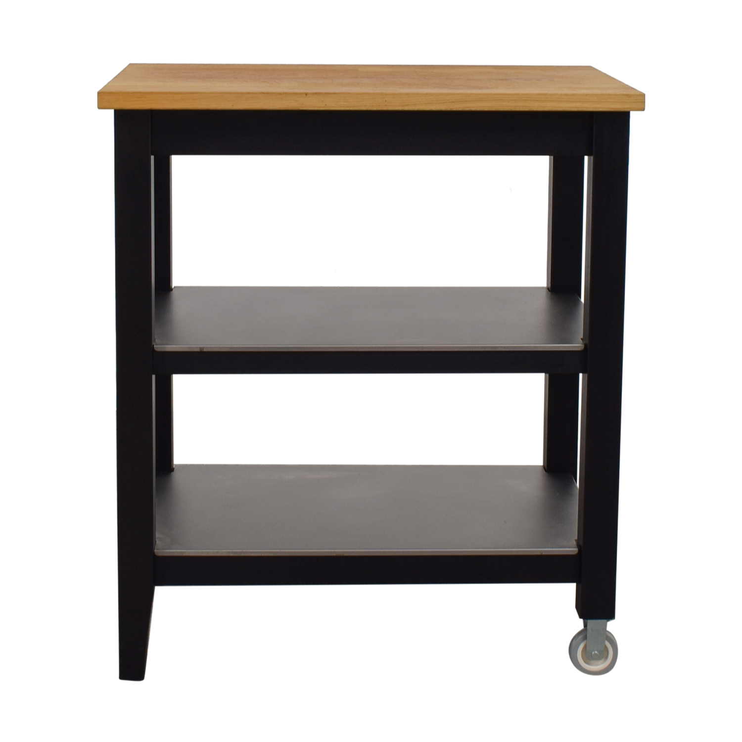 57% OFF - IKEA IKEA Stenstorp Wood and Black Kitchen Island Cart / Tables