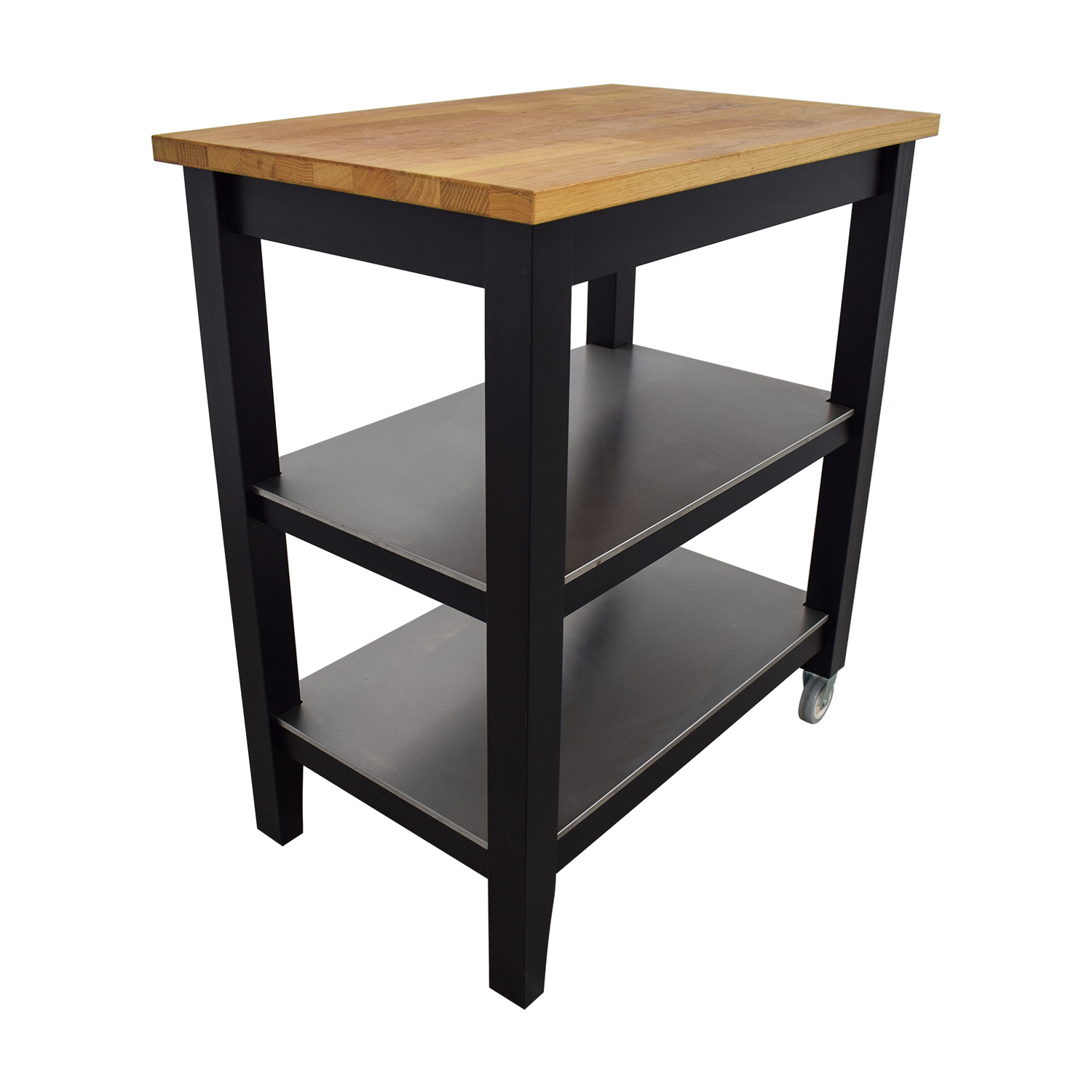 IKEA IKEA Stenstorp Wood and Black Kitchen Island Cart nyc