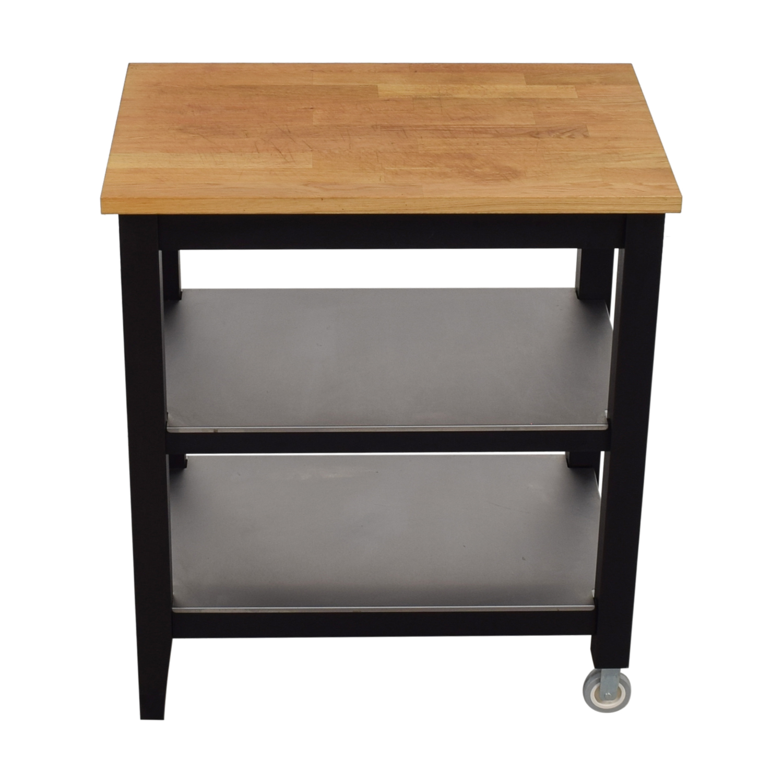 shop IKEA Stenstorp Wood and Black Kitchen Island Cart IKEA