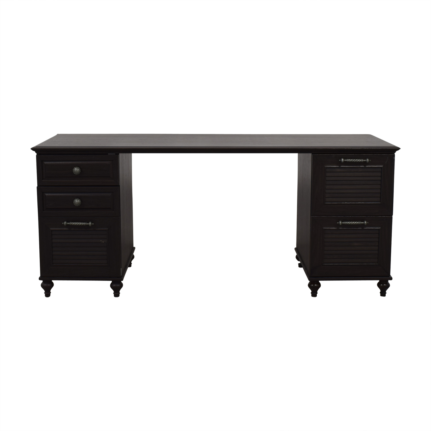 Cathy Ireland Cathy Ireland Black Desk With File Cabinets For