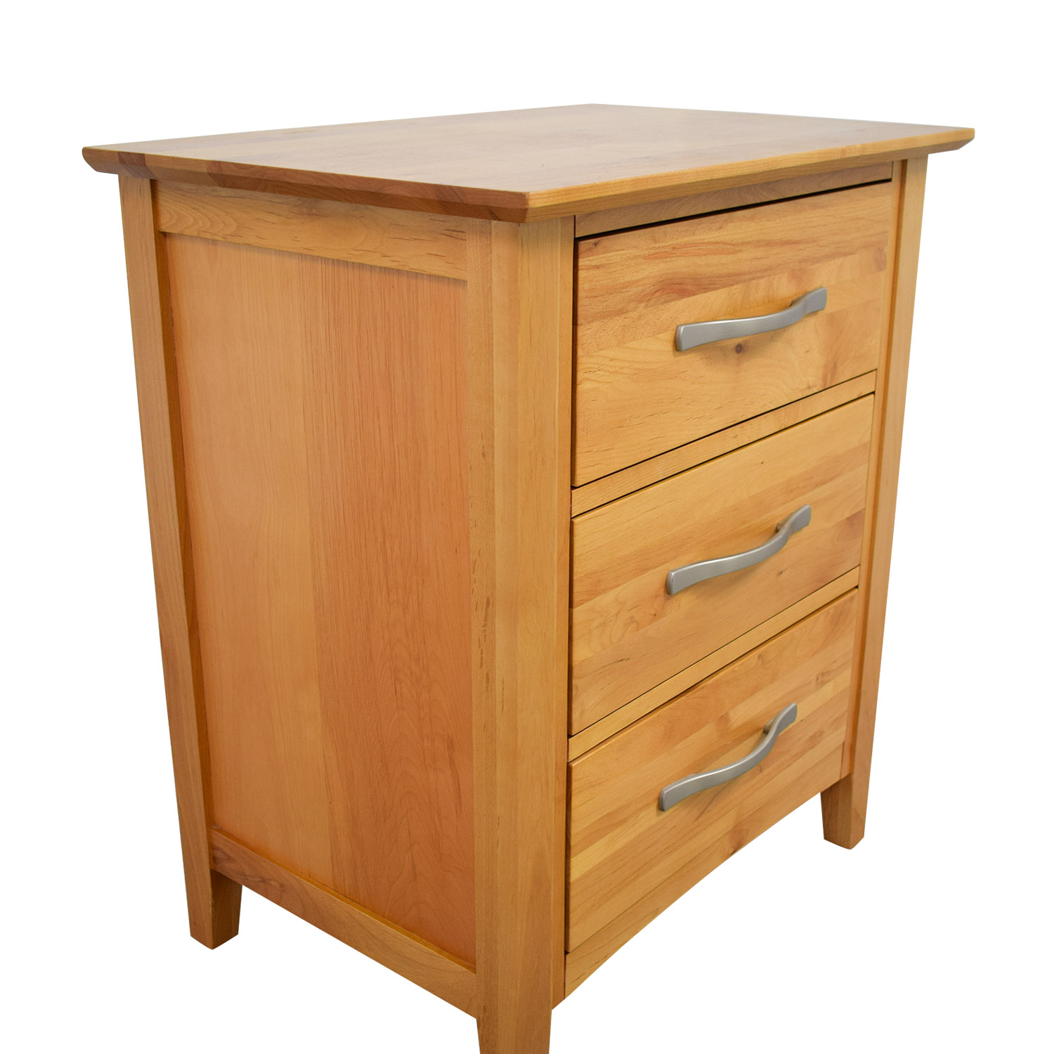 Raymour & Flanigan Raymour & Flanigan Everitt Natural Adler Three-Drawer Nightstand End Tables