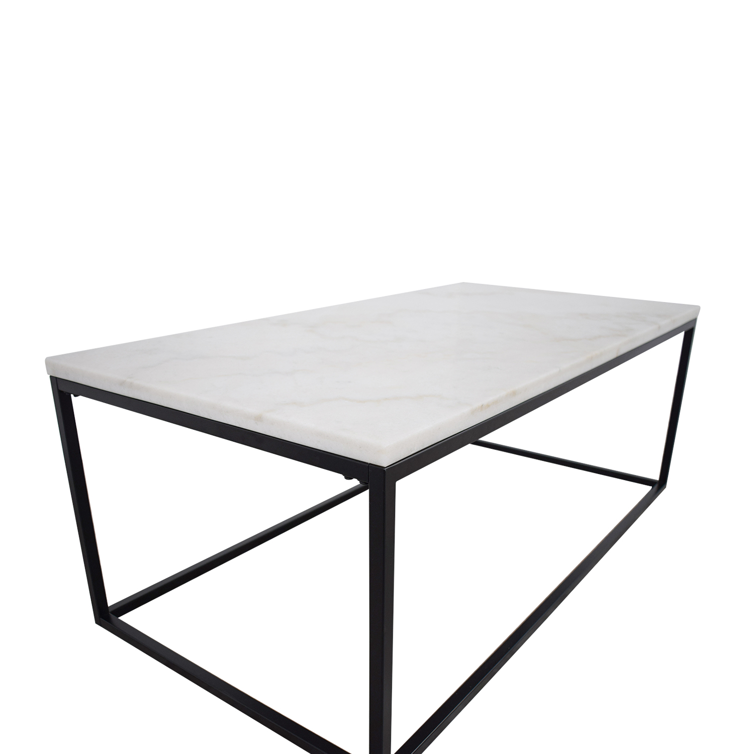 buy White Marble Top and Metal Base Coffee Table