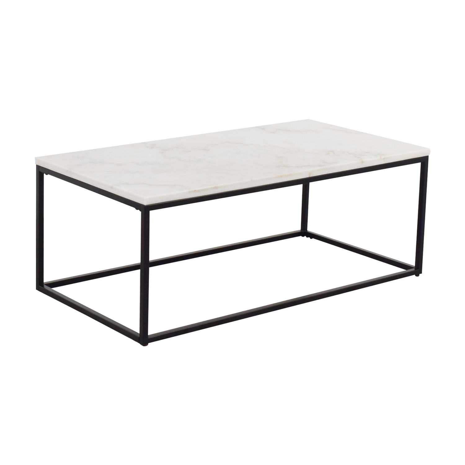 buy White Marble Top and Metal Base Coffee Table  Coffee Tables