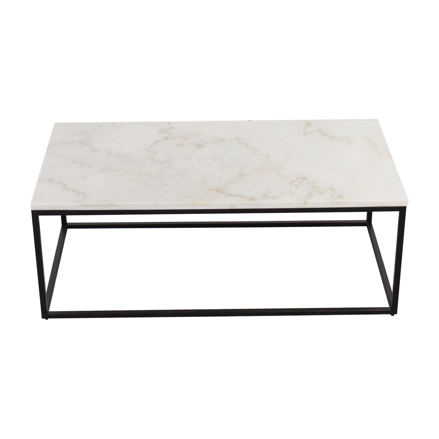 White Marble Top and Metal Base Coffee Table nj