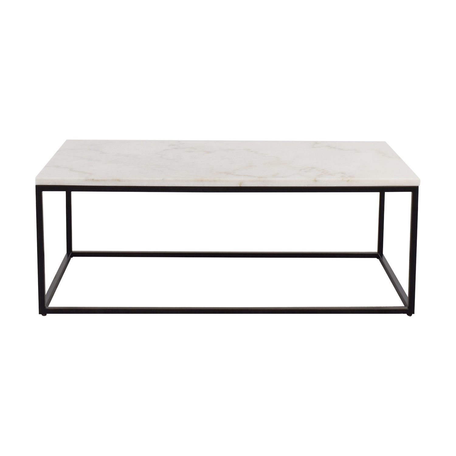 White Marble Top And Metal Base Coffee Table Coupon
