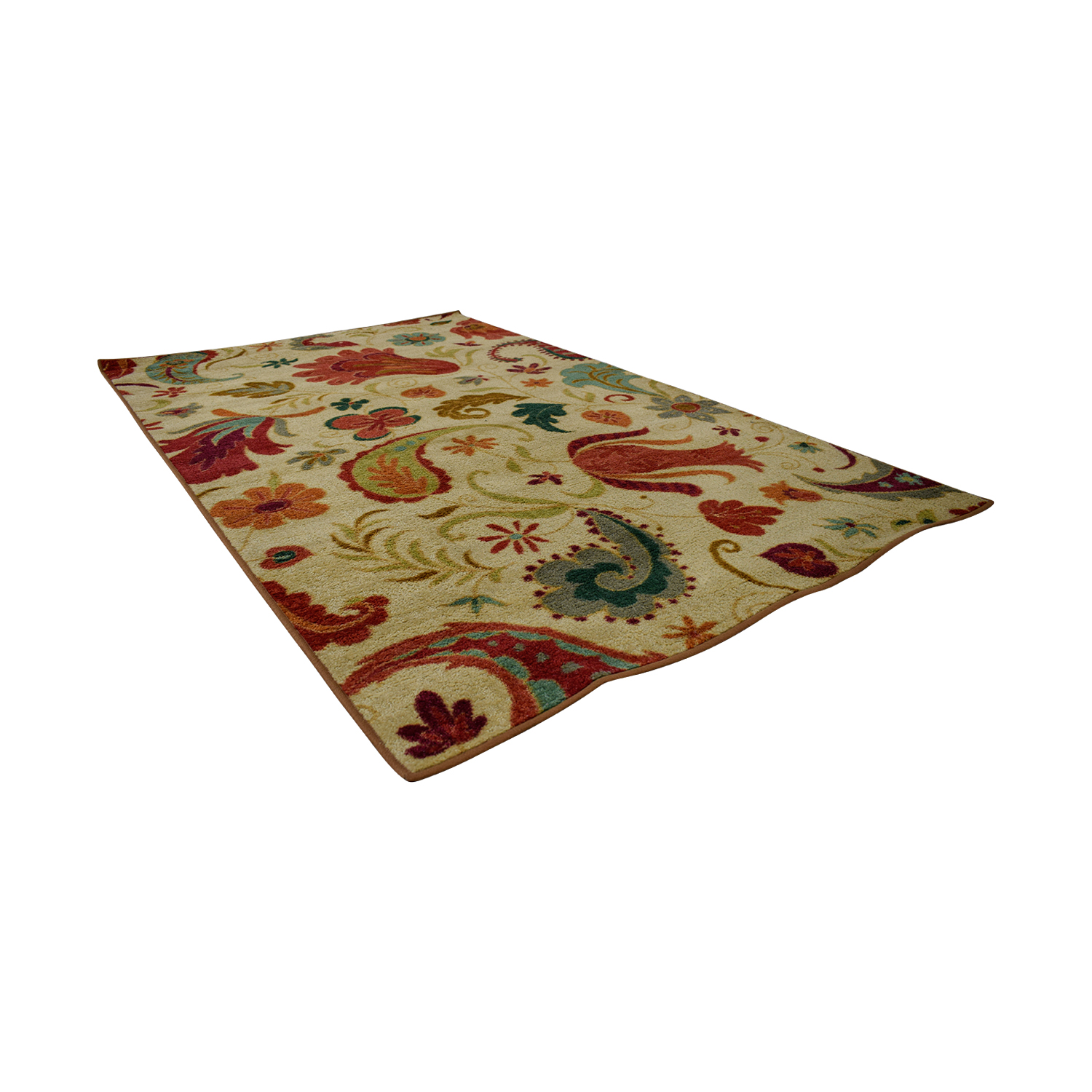 buy Andover Mills Virginia Beige and Red Rug Andover Mills