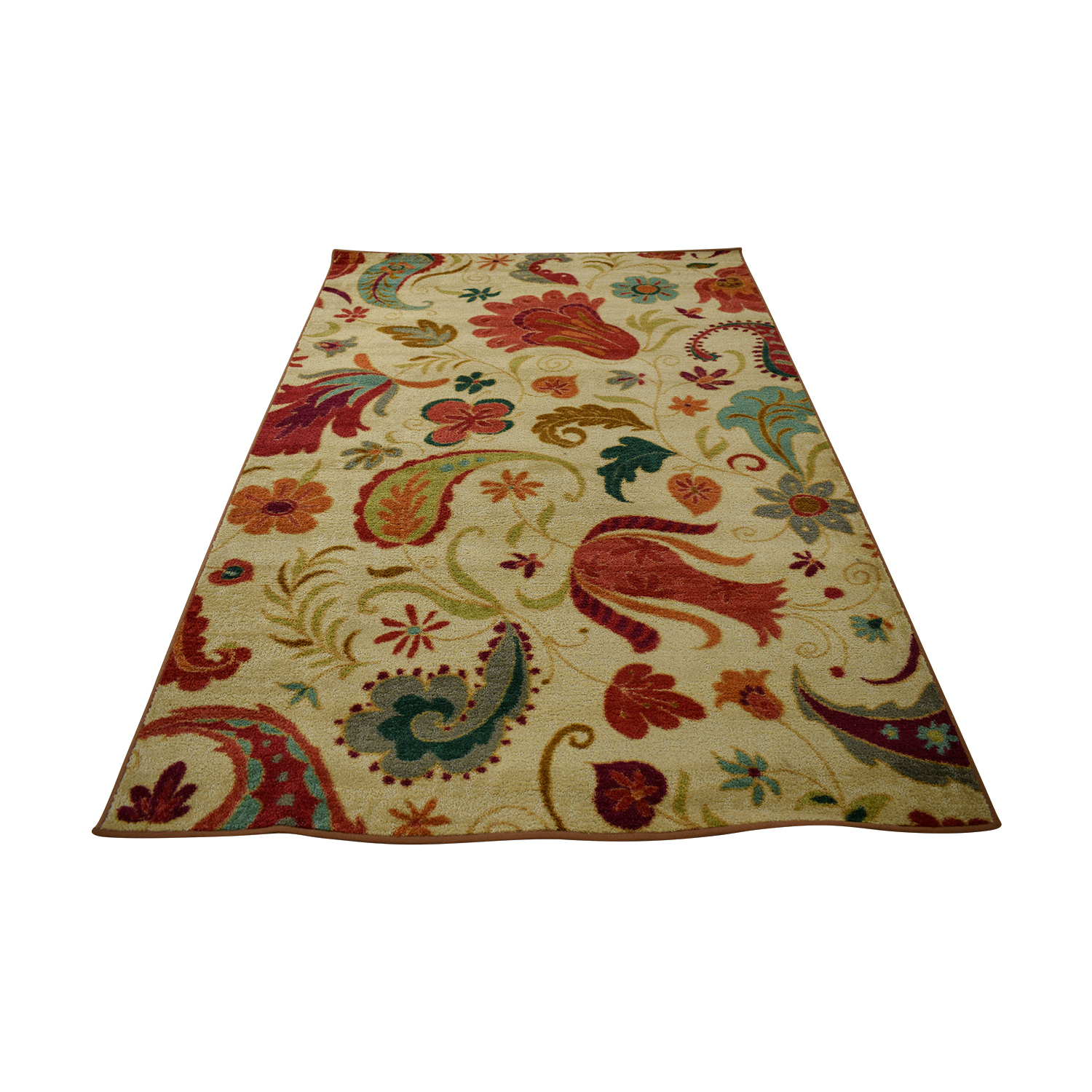 Andover Mills Andover Mills Virginia Beige and Red Rug nyc