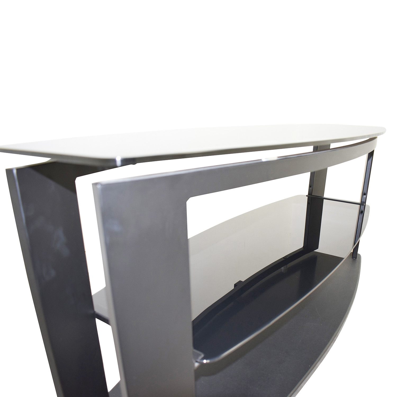 shop Modani Modani Black Glass and Metal TV Stand online