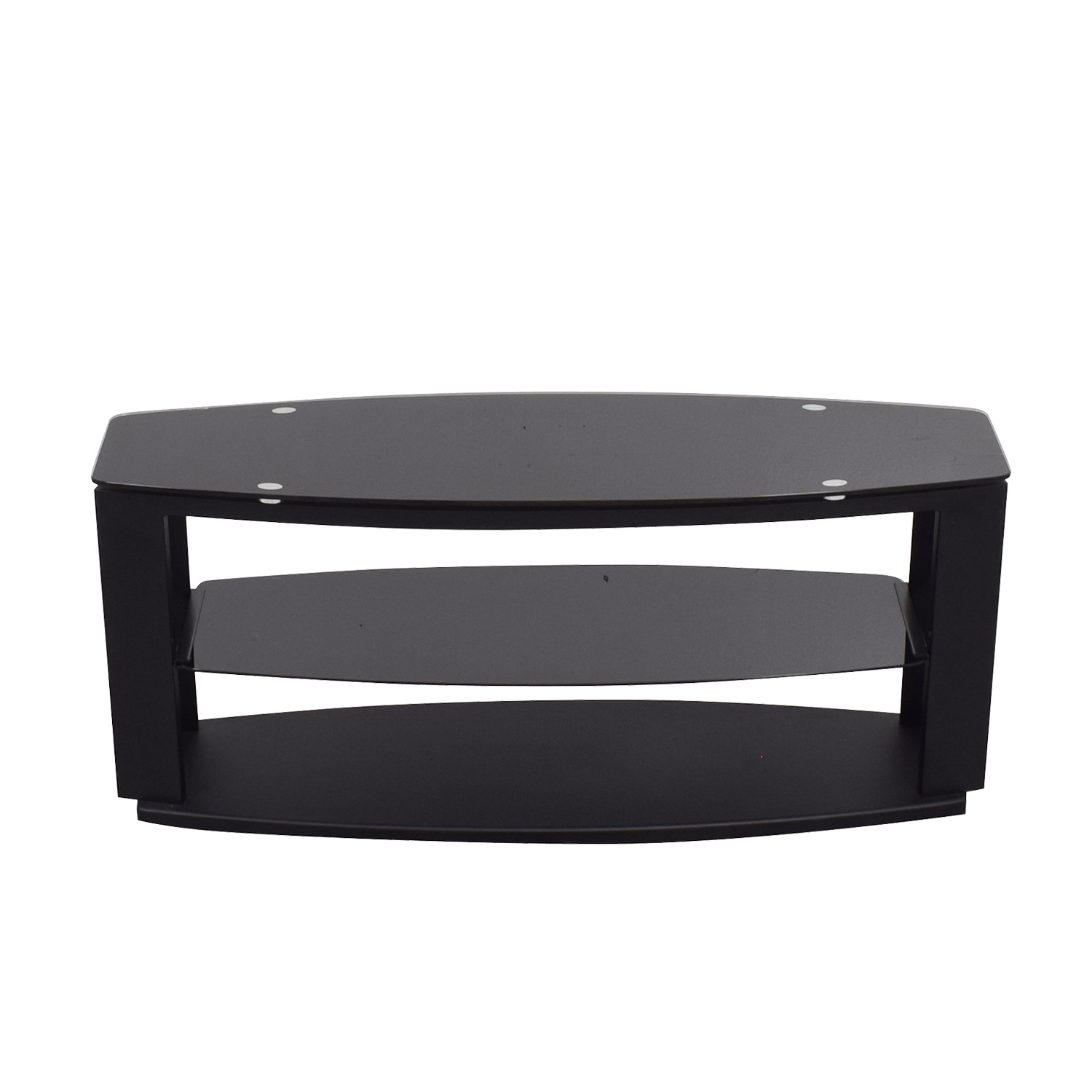 shop Modani Black Glass and Metal TV Stand Modani Media Units