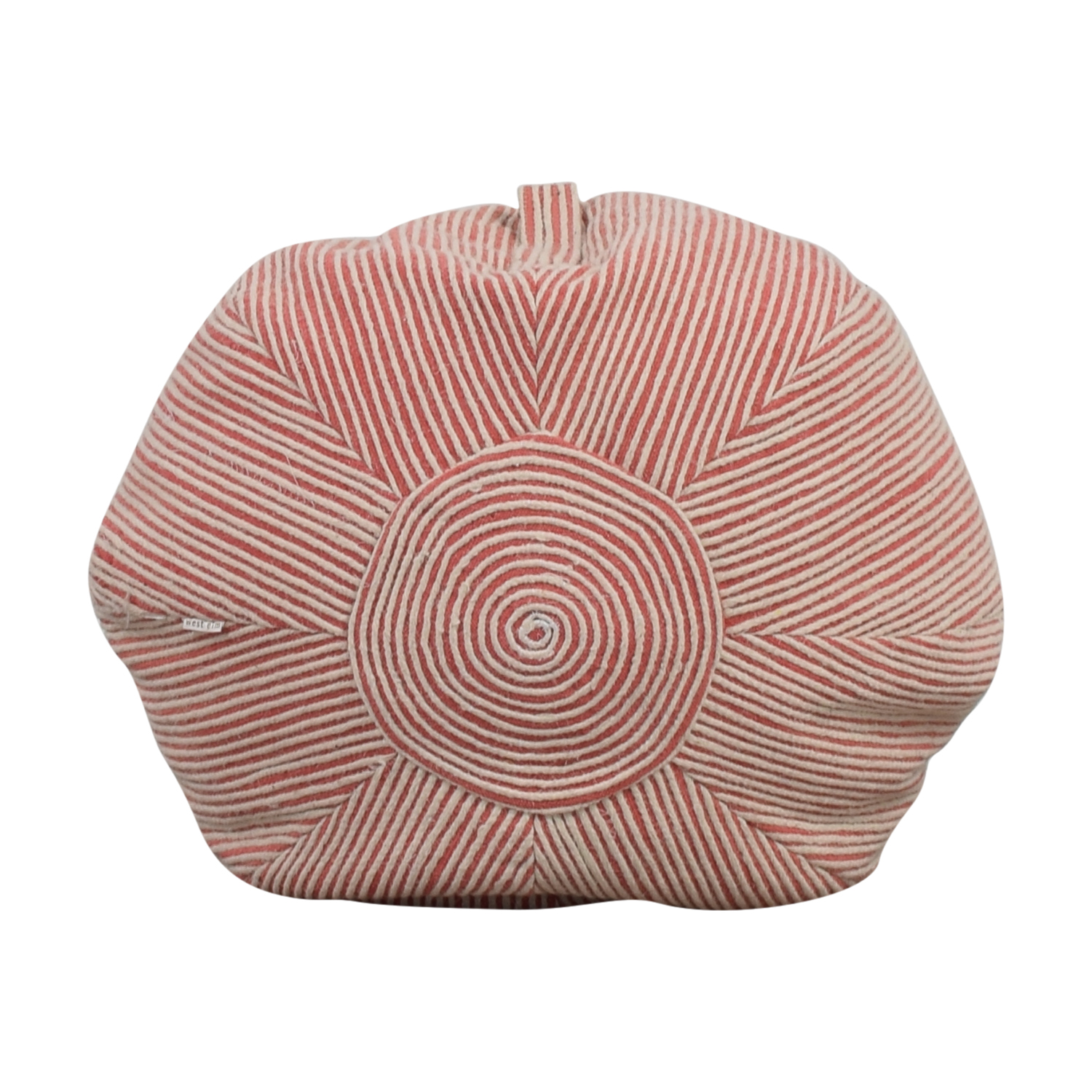 buy West Elm Pink and White Striped Poof West Elm