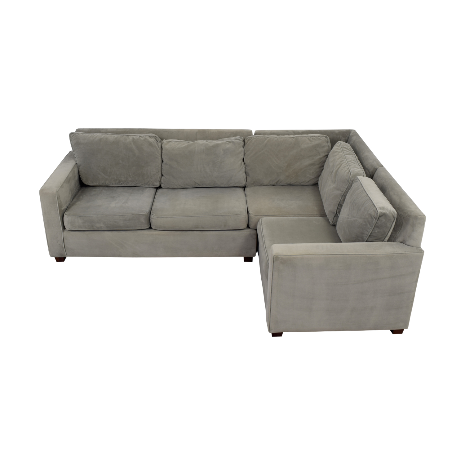 buy West Elm Grey L-Shaped Sectional West Elm Sectionals