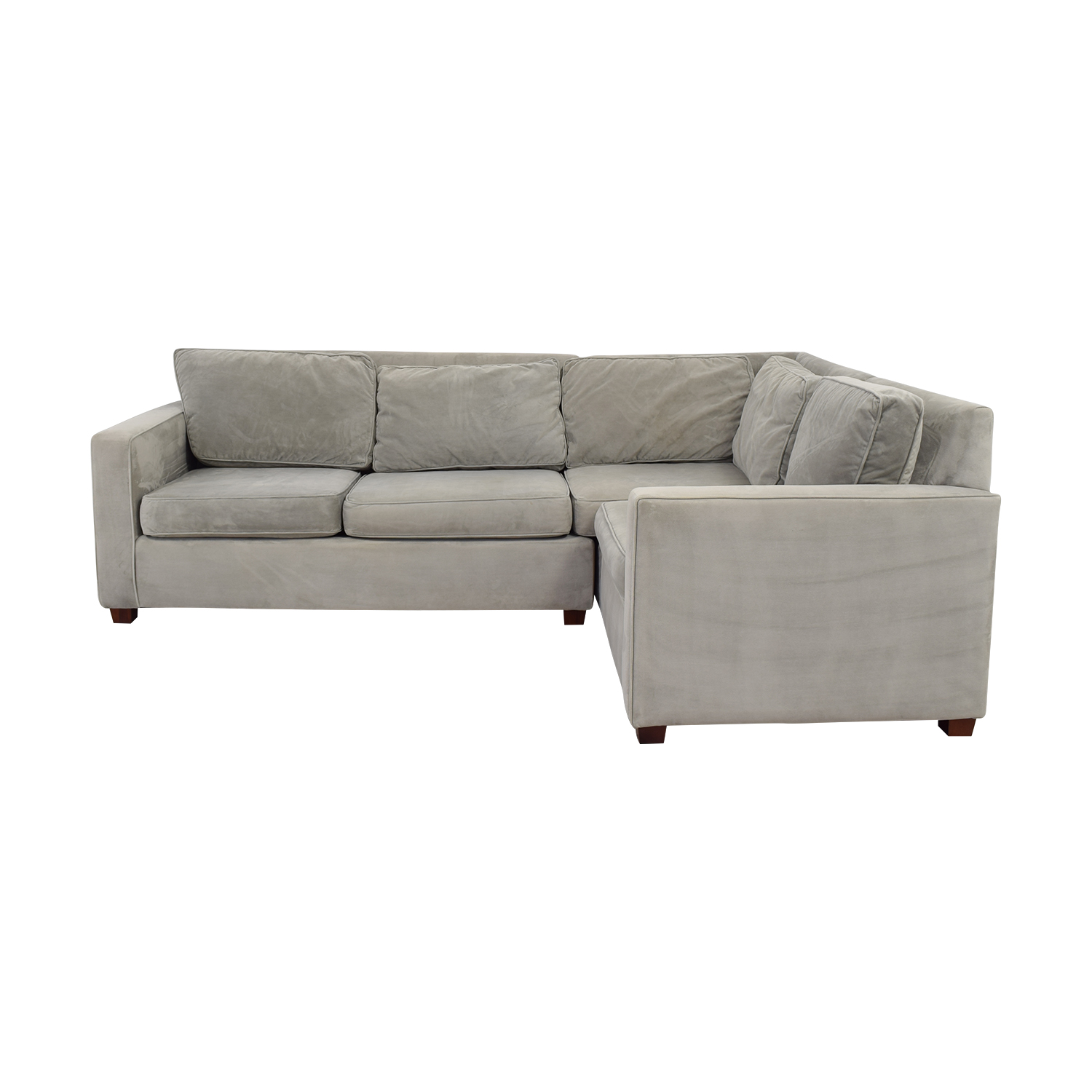 buy West Elm Grey L-Shaped Sectional West Elm Sofas
