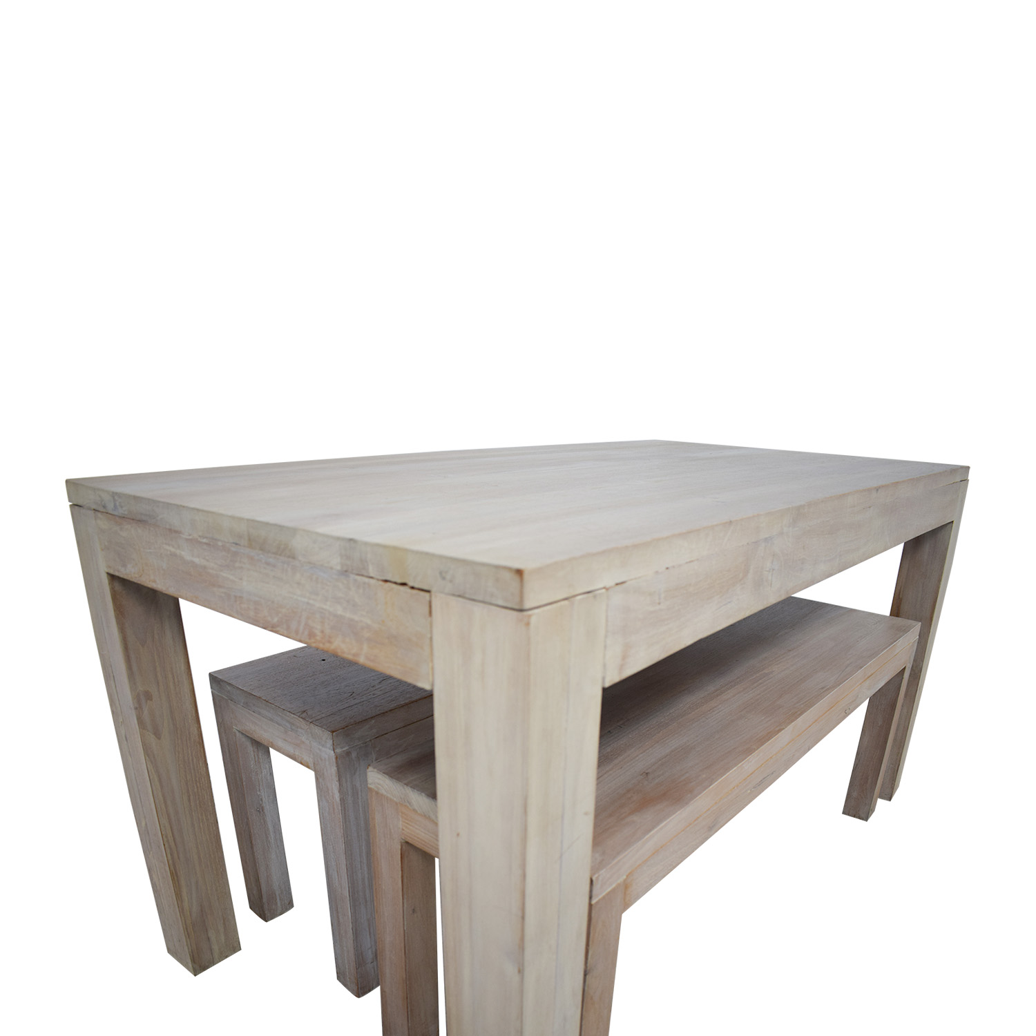 TREE Hong Kong TREE Hong Kong Reclaimed Raw Oak Wood Dining Table with Benches Dining Sets