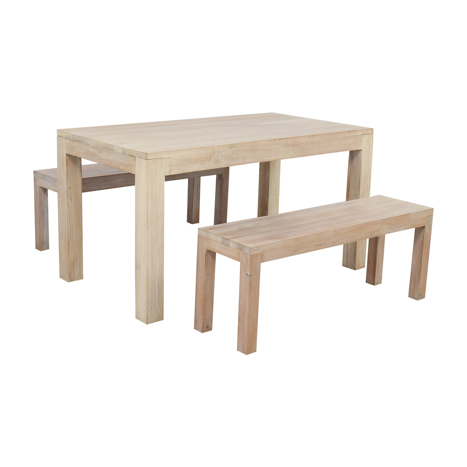 TREE Hong Kong TREE Hong Kong Reclaimed Raw Oak Wood Dining Table with Benches dimensions