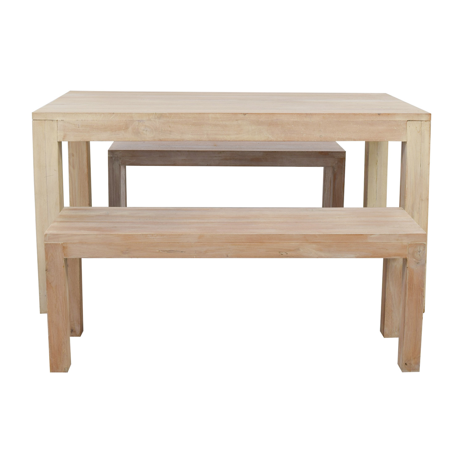 Buy TREE Hong Kong Reclaimed Raw Oak Wood Dining Table With Benches TREE  Hong Kong Dining
