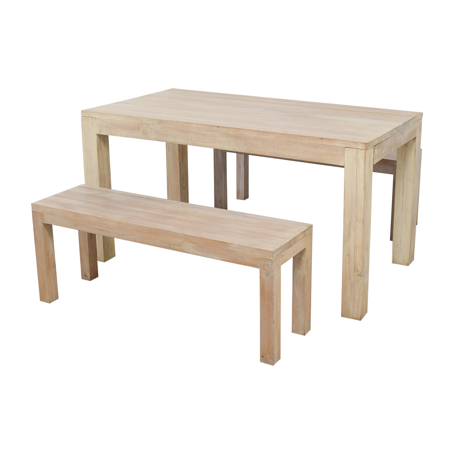TREE Hong Kong TREE Hong Kong Reclaimed Raw Oak Wood Dining Table with Benches for sale