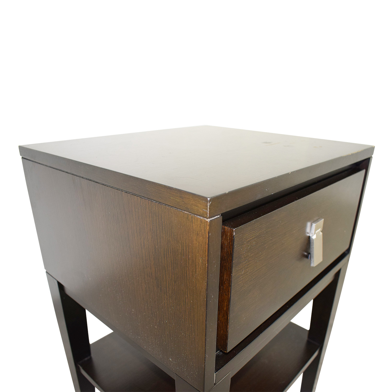 buy West Elm Single Drawer Wood Night Stand West Elm Tables