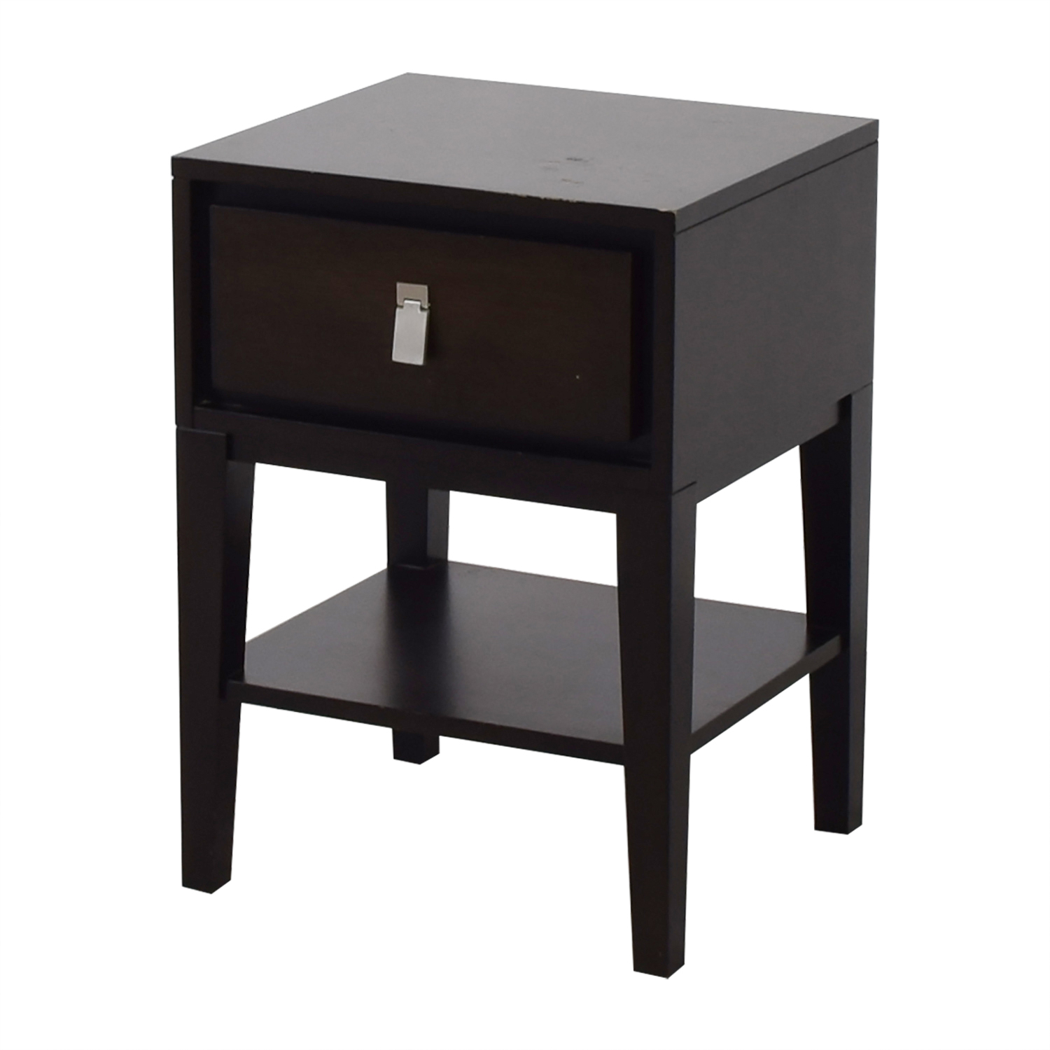 West Elm West Elm Single Drawer Wood Night Stand discount