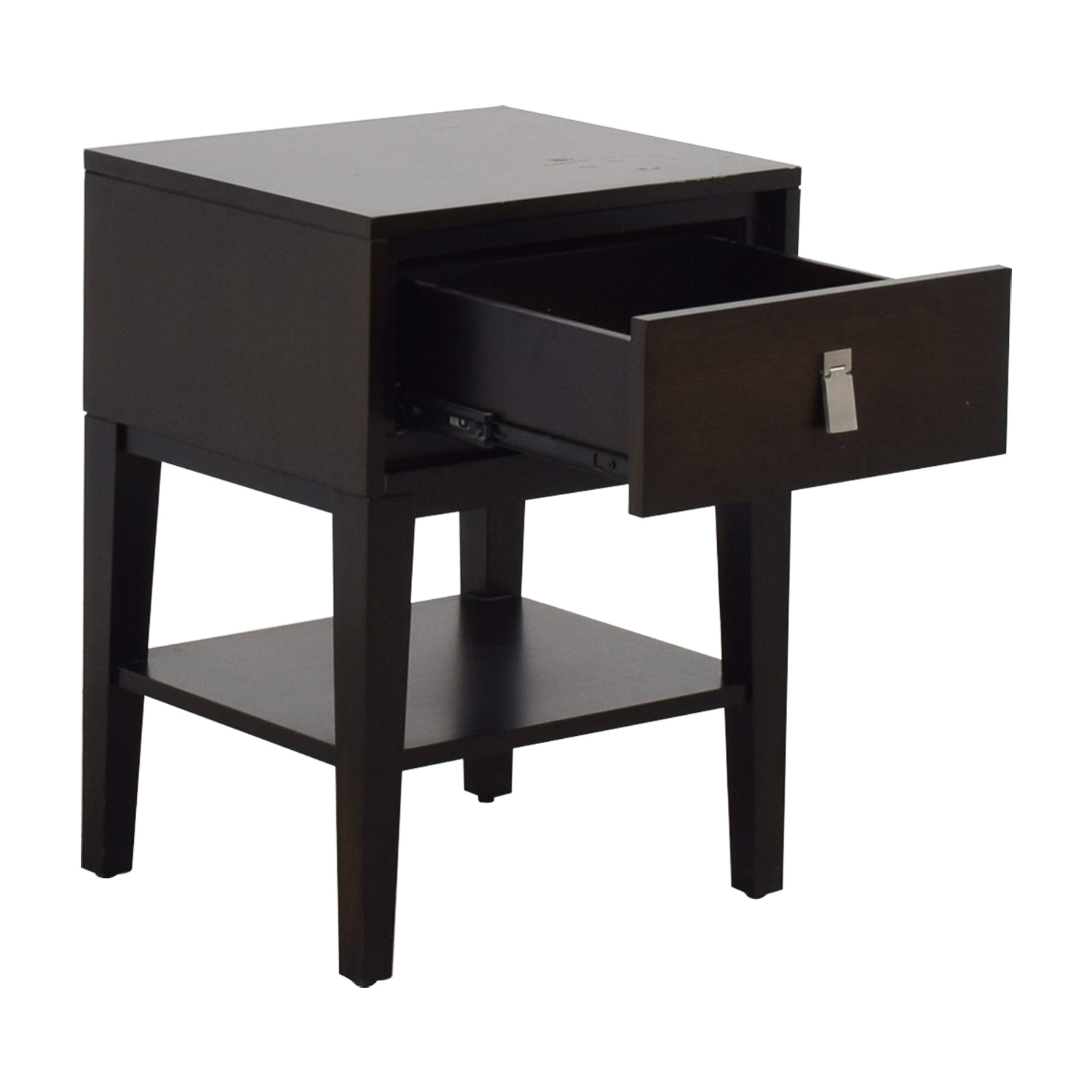shop West Elm Single Drawer Wood Night Stand West Elm Tables