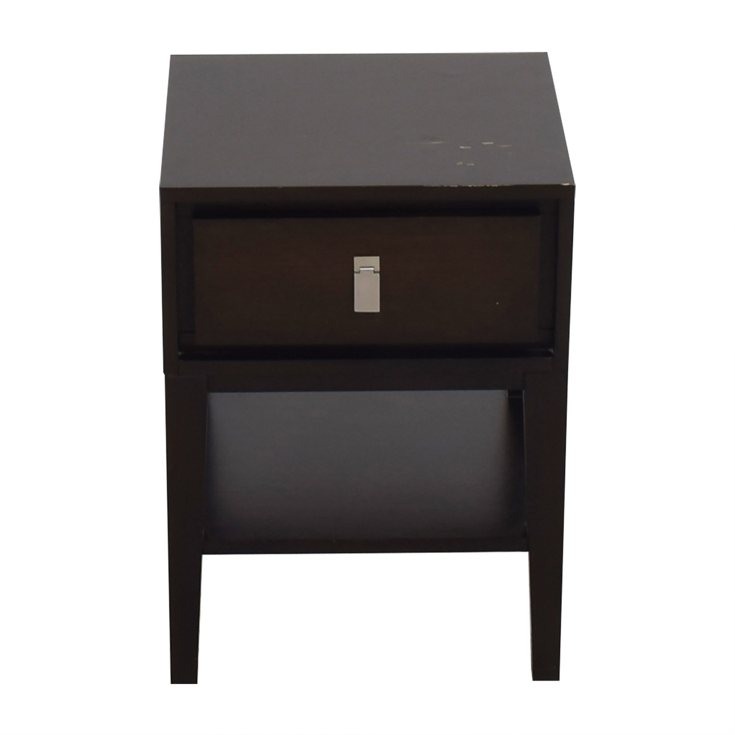 West Elm Single Drawer Wood Night Stand / End Tables