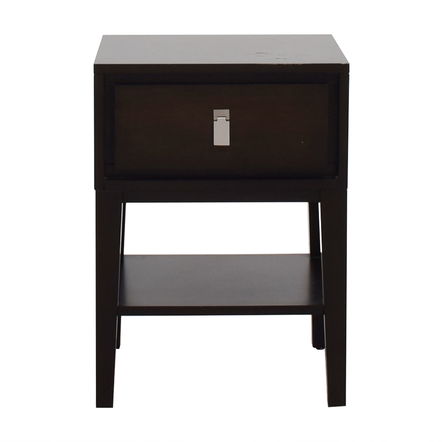 West Elm Single Drawer Wood Night Stand West Elm
