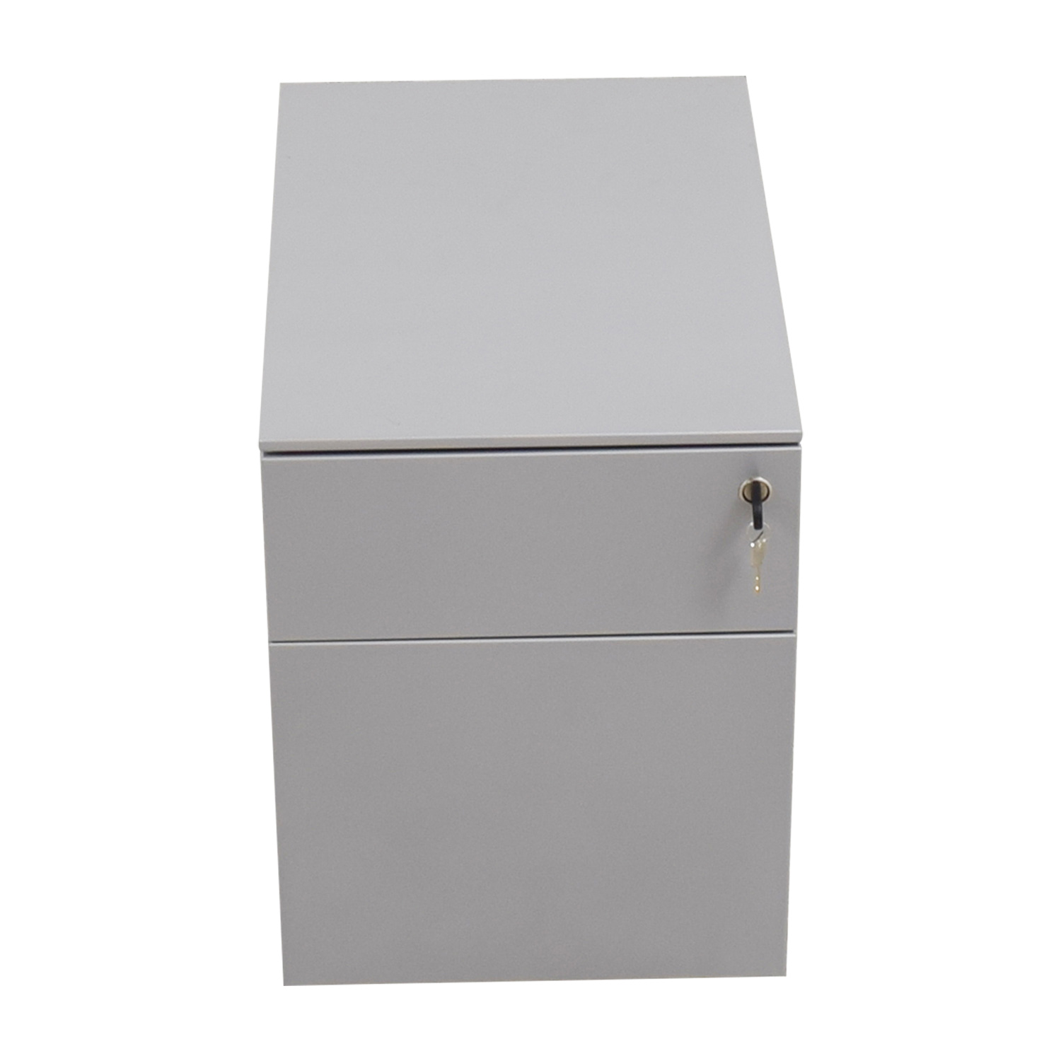 Design Within Reach Design Within Reach Silver Filing Cabinet with Key