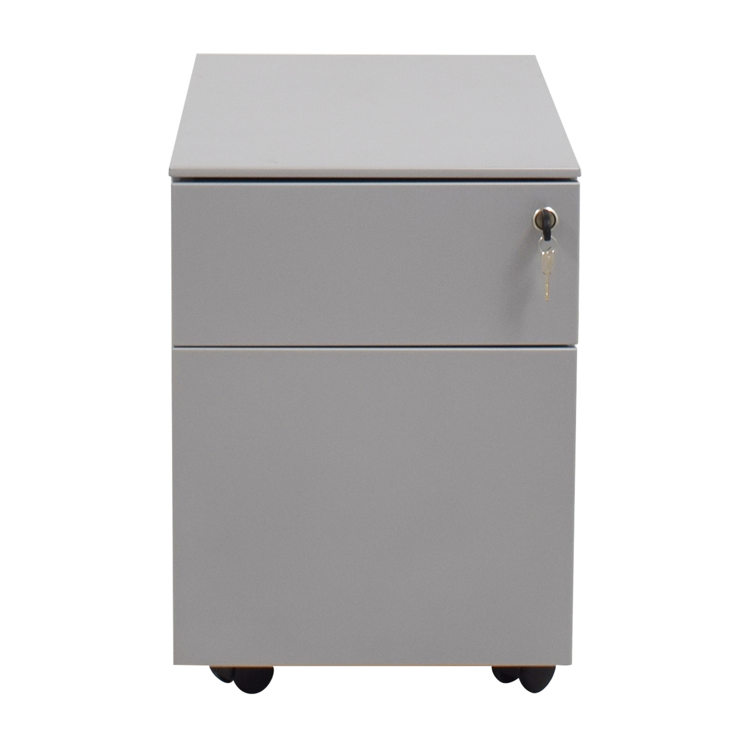 shop Design Within Reach Silver Filing Cabinet with Key Design Within Reach Storage