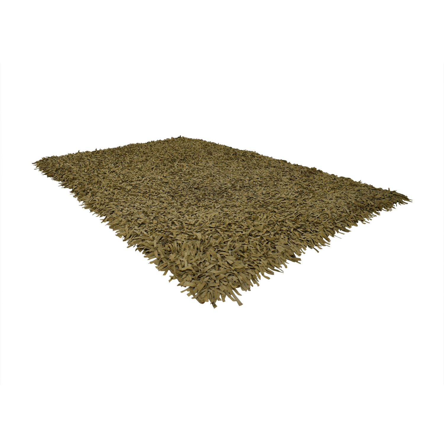 buy Tan Suede Fringe Rug  Rugs