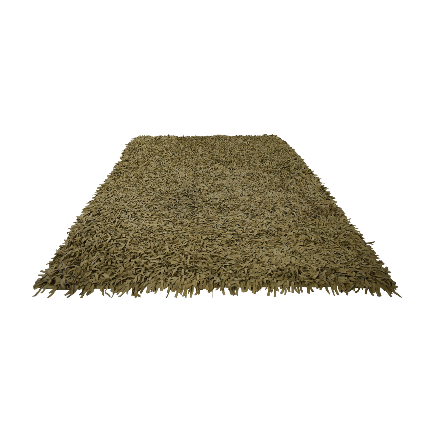 Tan Suede Fringe Rug used