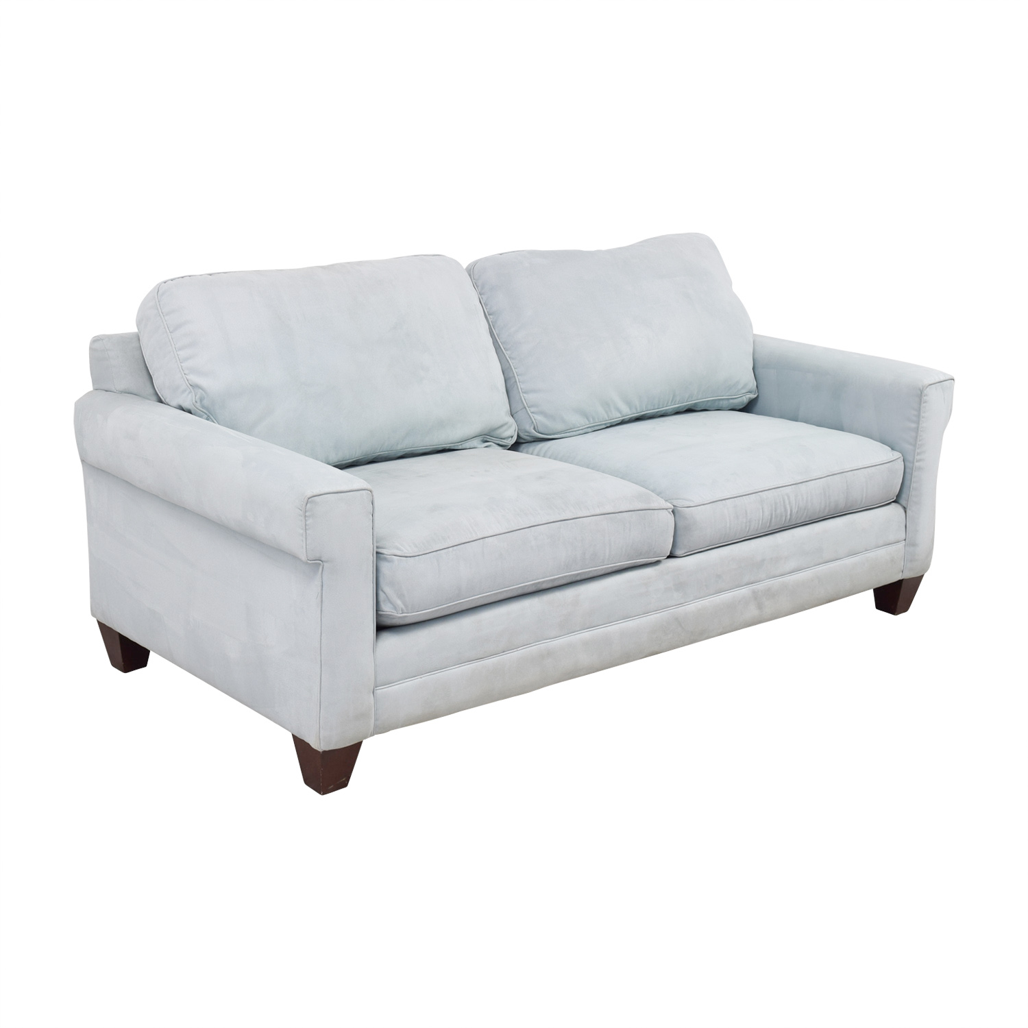 ... Buy Bassett Light Blue Micro Fiber Two Cushion Couch Bassett ...