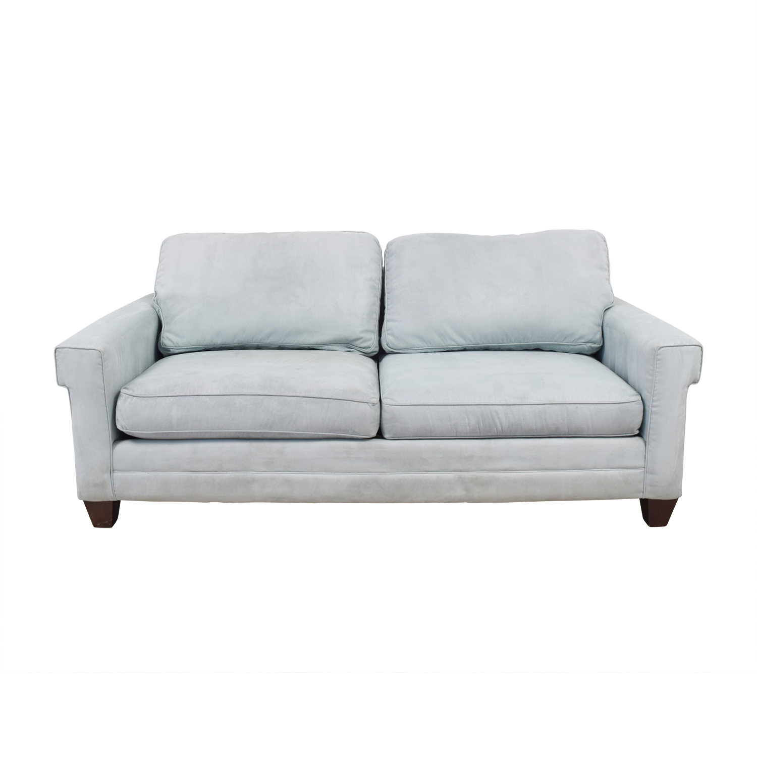 Buy Bassett Bassett Light Blue Micro Fiber Two Cushion Couch Online