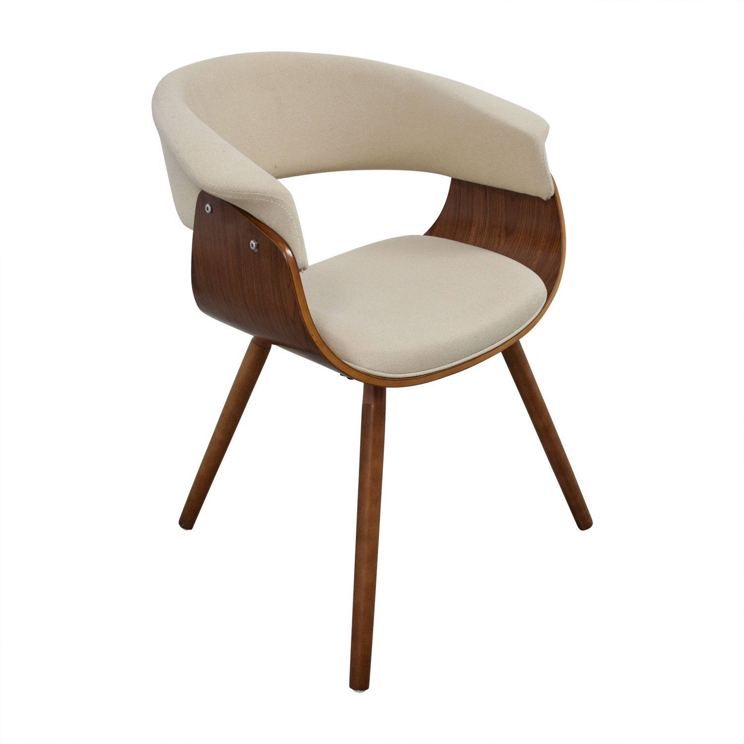 Joss & Main Joss & Main Frederick Off White and Wood Accent Arm Chair on sale