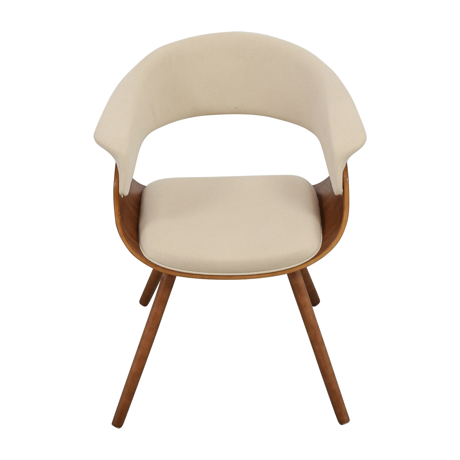 Joss & Main Frederick Off White and Wood Accent Arm Chair sale