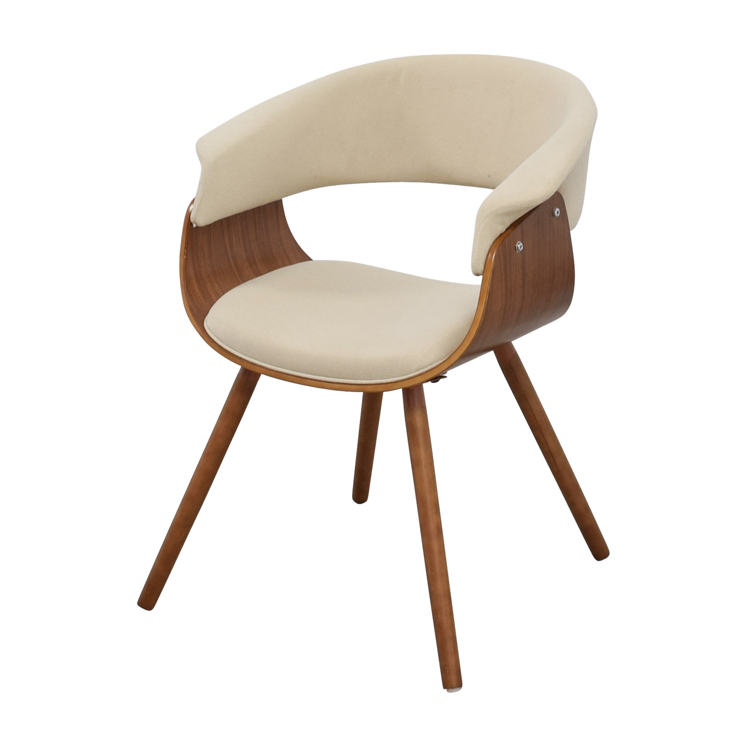 buy Joss & Main Frederick Off White and Wood Accent Arm Chair Joss & Main