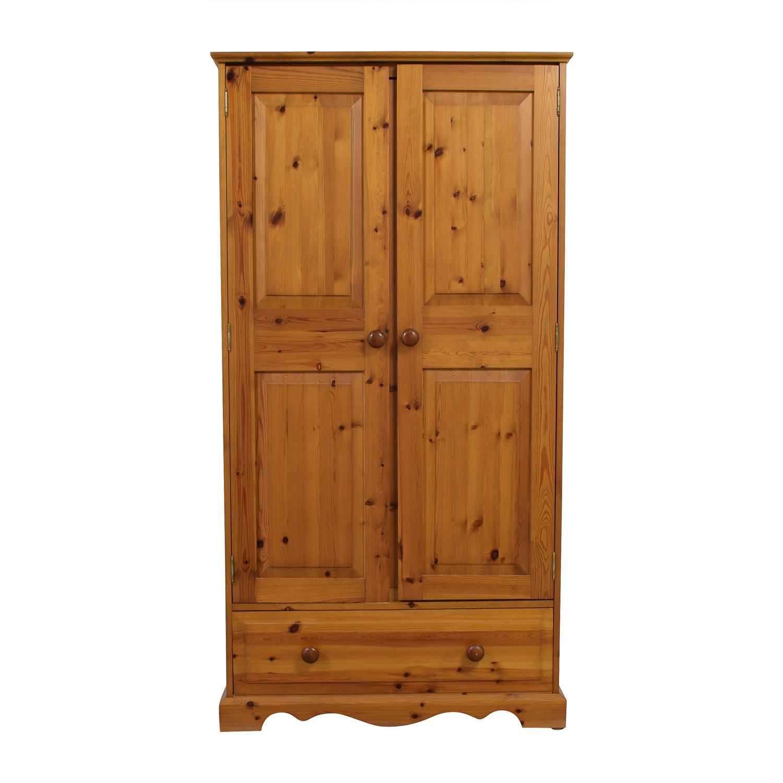 buy  Pine Wood Single-Drawer Wardrobe online