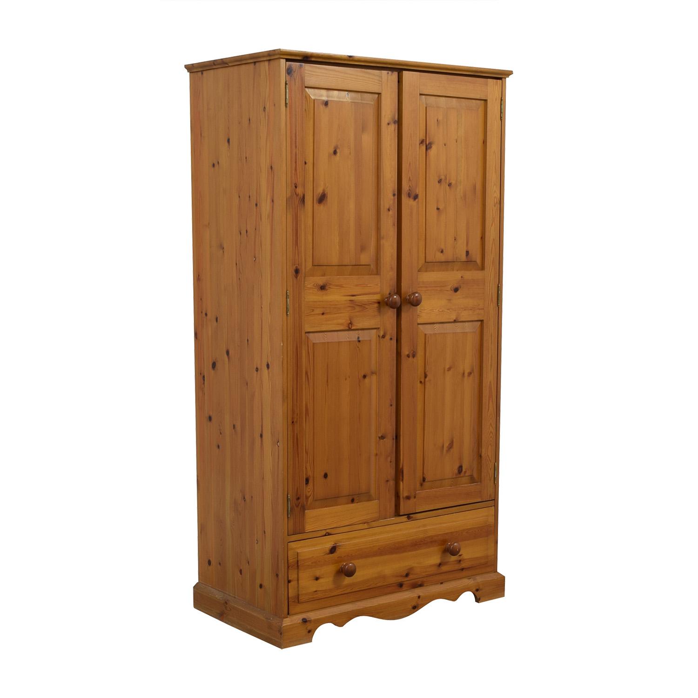 Pine Wood Single-Drawer Wardrobe price