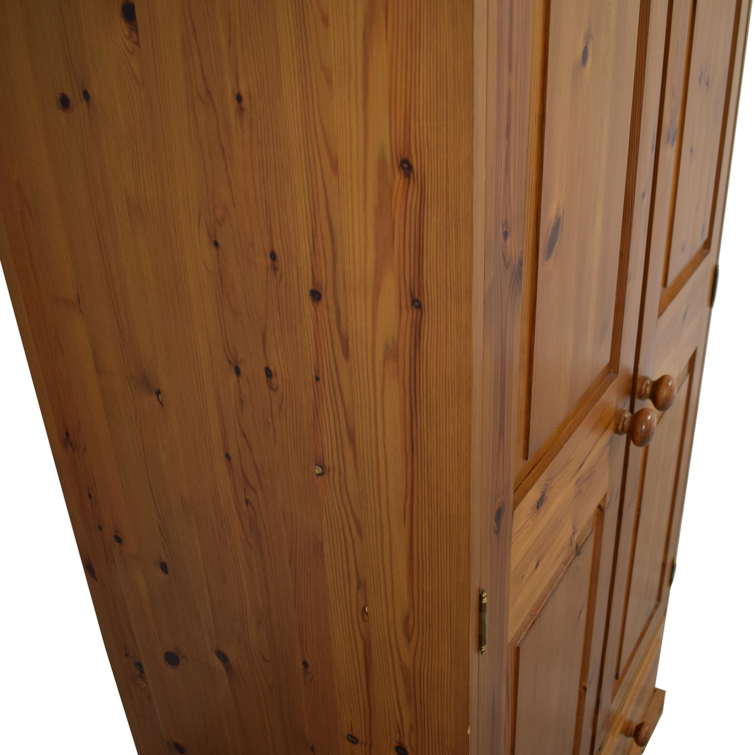 Pine Wood Single-Drawer Wardrobe / Wardrobes & Armoires