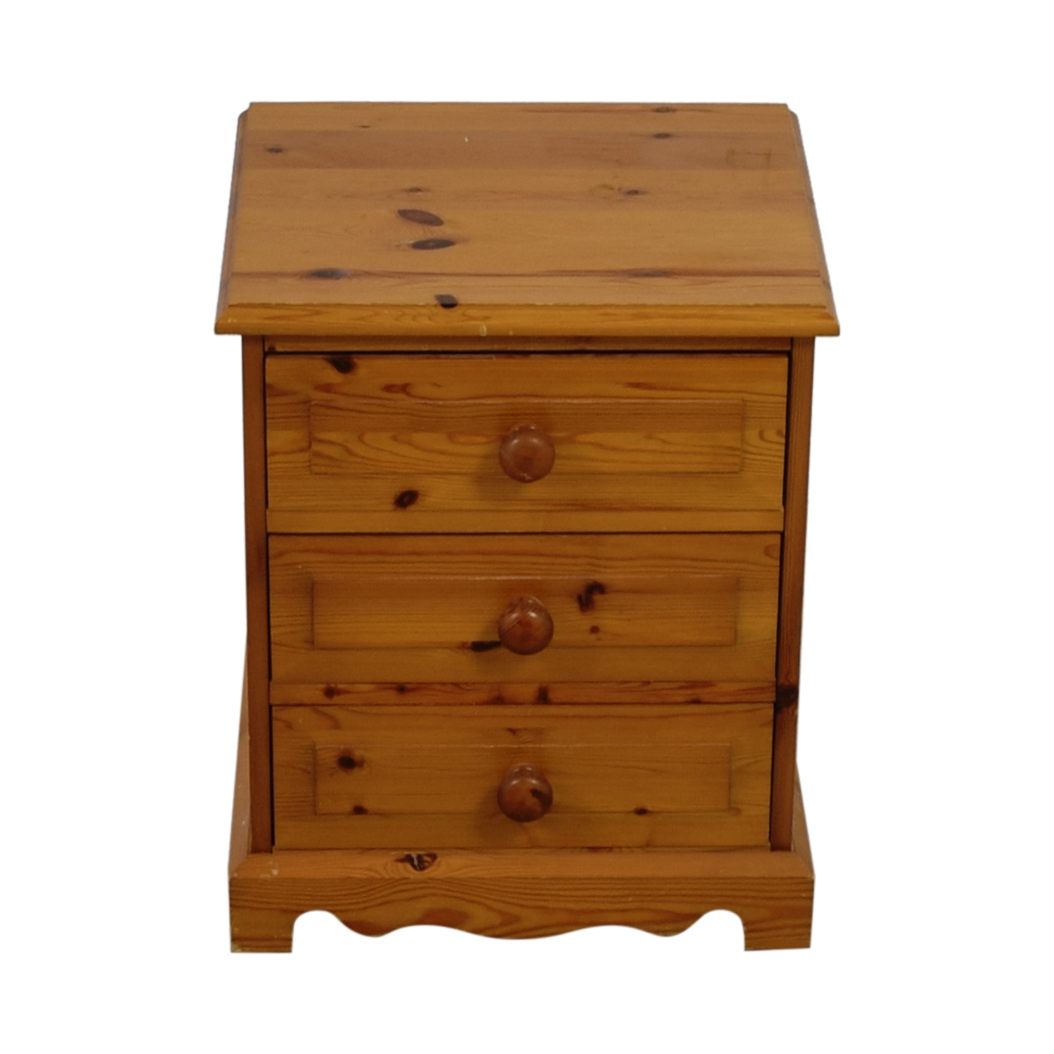 buy  Pine Three-Drawer End Table online