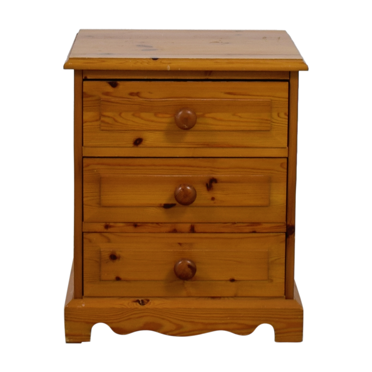 Pine Three-Drawer End Table second hand