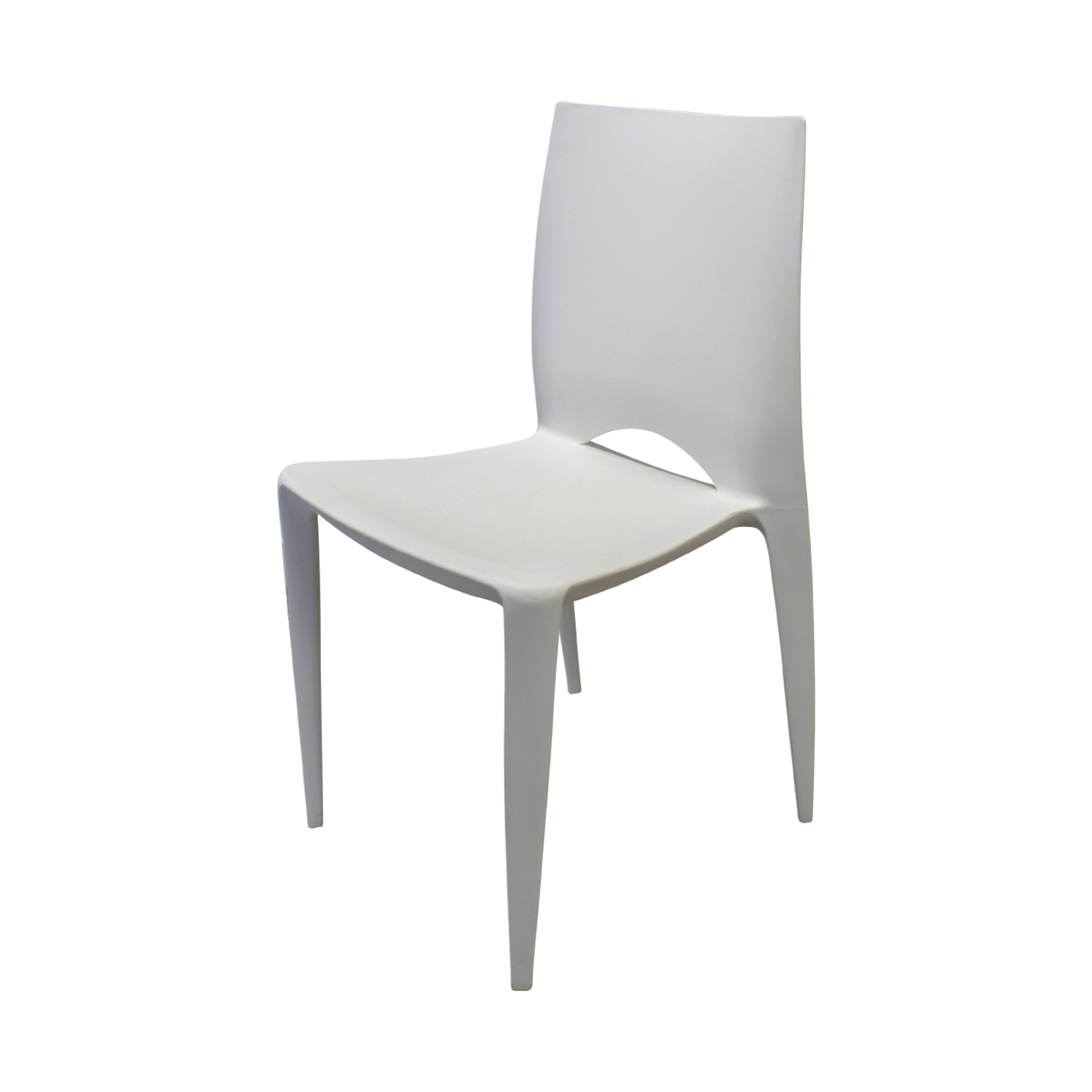 Design Within Reach Wood Extendable Table with White and Orange Chairs nj
