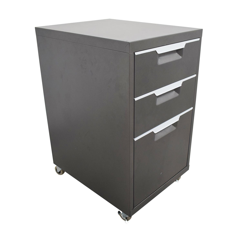 shop CB2 Metal File Cabinet CB2 Storage