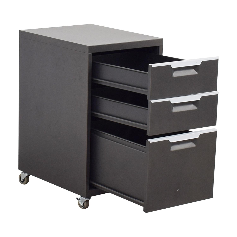 CB2 Metal File Cabinet / Filing & Bins
