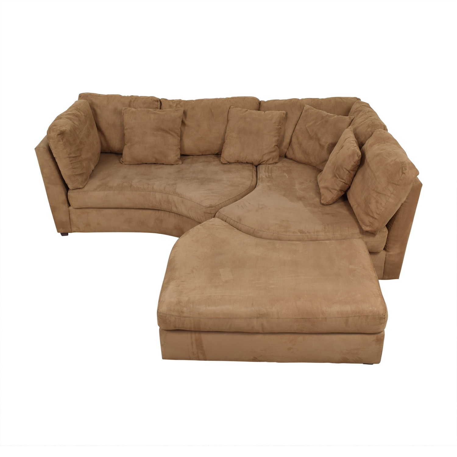 Raymour & Flanigan Raymour & Flanigan Sectional Sofa with Ottoman Sofas